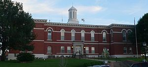 Otoe County Courthouse - View from the north, across Central Avenue