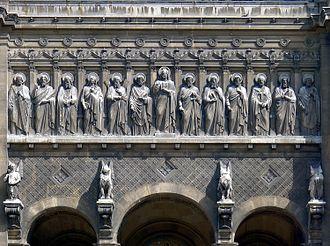 François Jouffroy - Image: P1030126 Paris VIII eglise Saint Augustin façade détail rwk