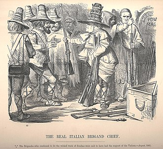 Punch (magazine) - Image: PIUS IX real italian brigand chief