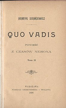 Quo Vadis (novel) - Wikipedia