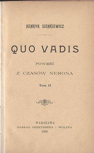 Quo Vadis (novel) - Image: PL Henryk Sienkiewicz Quo vadis t.2 009
