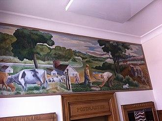 Mount Vernon, Missouri - Mural in Mount Vernon post office
