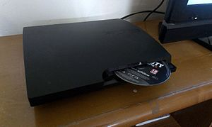 PlayStation 3 models - Motorized slot-loading disc cover. This feature is absent in SuperSlim Model