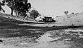 Paddle steamer Nile on dry bed of Darling River, Bourke (Australian National Maritime Museum 8282892046).jpg