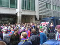 Palace fans protest outside Lloyds HQ in London.JPG