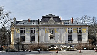 Palace of Art, 4,Szczepanski square,secession building, Krakow Old Town.jpg