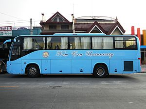New Era University - New Era University bus, San Fernando City, Pampanga