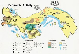 Geography of Panama - Economic activity in Panama, 1981