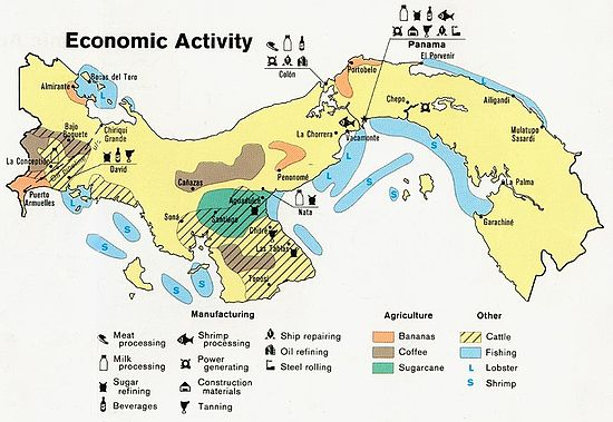 Economy Of Panama Wikipedia - Us economic activity map