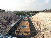 The restoration of the Panathenaic Stadium, originally built in the fourth century, was funded by Georgios Averoff. The stadium was used again for the 2004 Summer Olympics.
