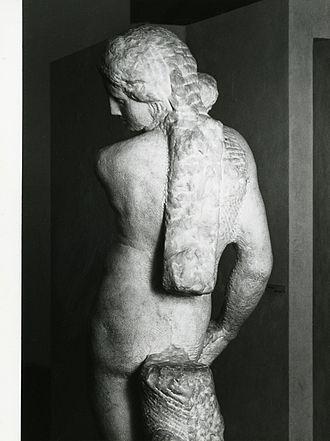 Apollo (Michelangelo) - Rear view. Photo by Paolo Monti, 1981)