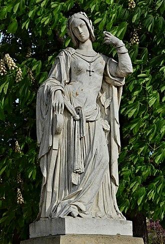 Clémence Isaure - Image: Paris Jardins Luxembourg Clémence Isaure 2014