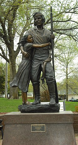 Statue of Pascal Fish and his daughter Eudora, 2011