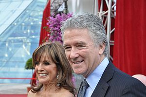 Patrick Duffy - Duffy with Linda Gray at the 2013 Monte-Carlo Television Festival