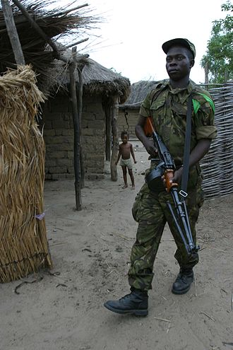 United Nations Security Council Resolution 1201 - Soldier from the Central African Republic in Birao