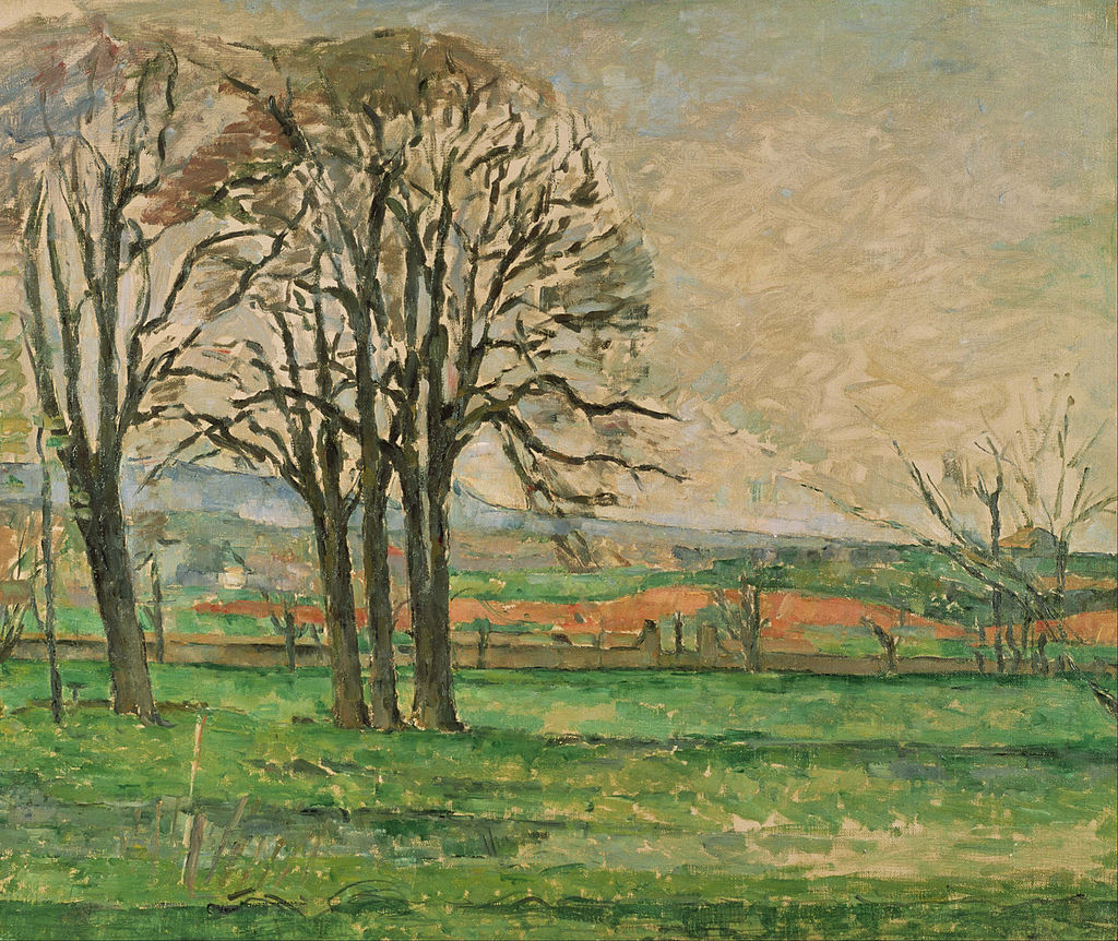 Paul Cézanne - The Bare Trees at Jas de Bouffan - Google Art Project