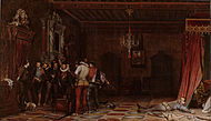 Paul Delaroche - L'assassinat du duc de Guise au château de Blois en 1588 - Google Art Project.jpg