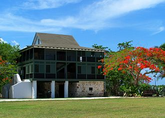 History of the Cayman Islands - The fully restored Pedro St. James Castle on Grand Cayman Island