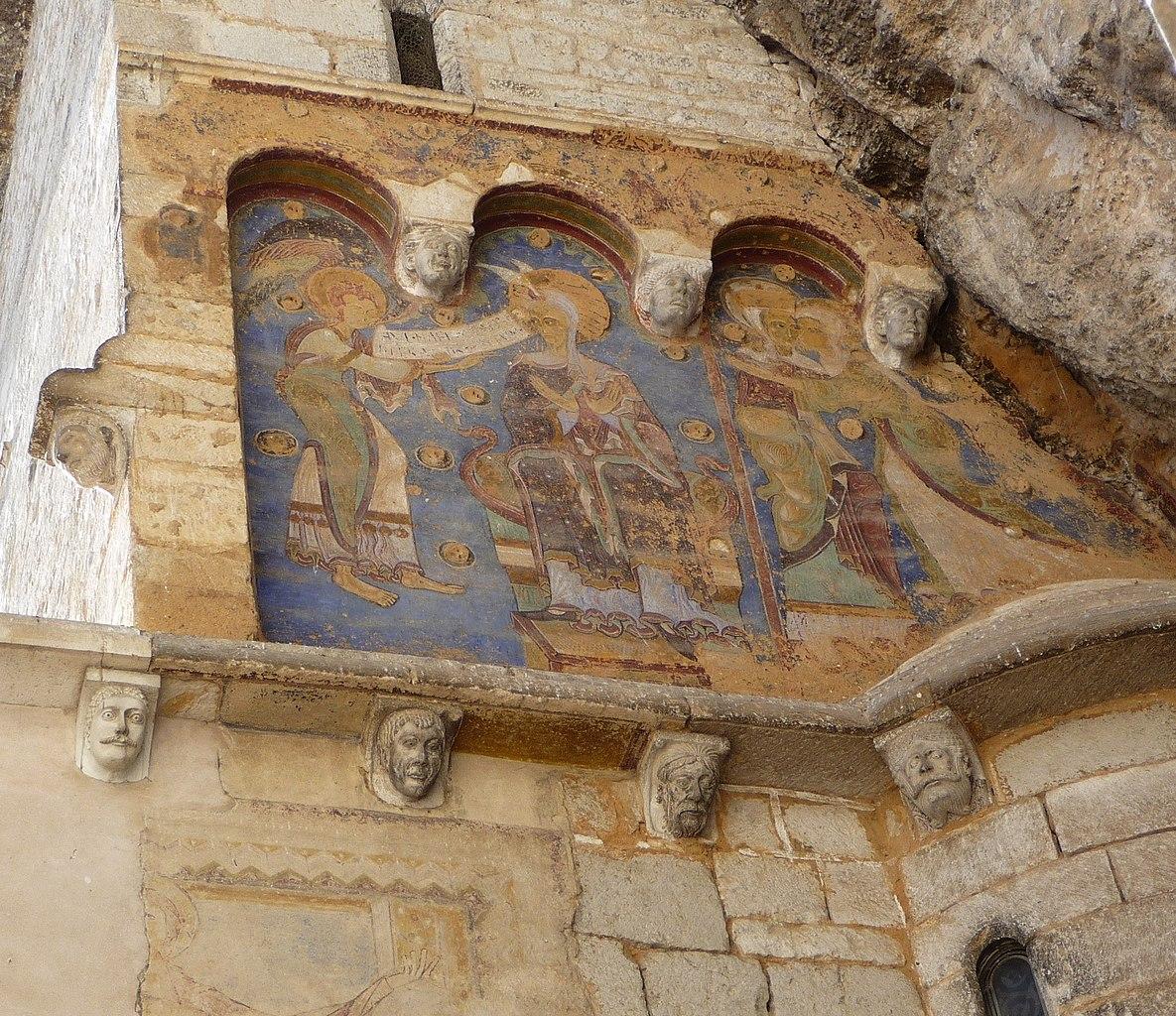 file peintures murales de la chapelle saint michel de rocamadour jpg wikimedia commons. Black Bedroom Furniture Sets. Home Design Ideas