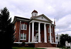 Pendleton County Courthouse in Franklin