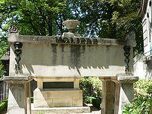 La tomba di Molière, oggi nel cimitero di Père Lachaise