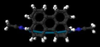 Sandwich compound - Image: Perylene tetrapalladium sandwich complex from xtal 3D balls B