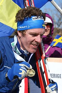 Peter Arnesson with golden medal (Ski-EOC 2010).jpg