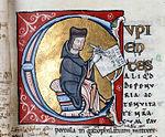 Pierre Lombard, auteur des Sentences , vouées à un grand succès. BM Troyes, ms. 0900 (1158).