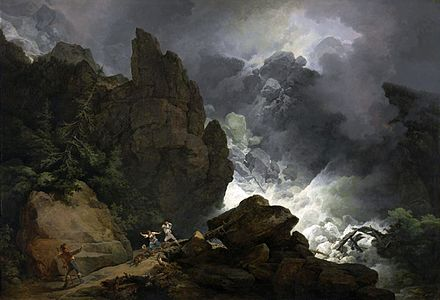An avalanche, painted 1803 Philipp Jakob Loutherbourg d. J. 003.jpg