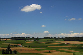 Romont - Farmland around Romont