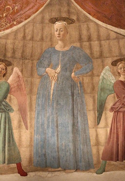 Piero della francesca, Madonna del Parto, 1455 ca.