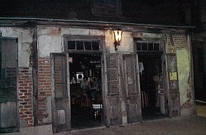 Pierre Lafitte - The building in New Orleans which housed Pierre Lafitte's blacksmith shop, now converted into a bar