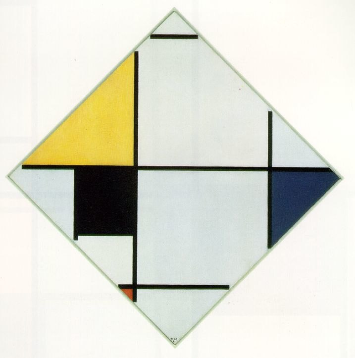 Piet Mondrian - Lozenge Composition with Yellow, Black, Blue, Red, and Gray - 1921 - The Art Institute of Chicago