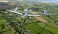 Pilatus PC-9 of the Irish Air Corp flying in formation 10.jpg