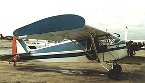 Piper J-5 - Piper J-5A Cub Cruiser with wing endplates and banner-towing gear at North Perry airport, Florida, in March 1987