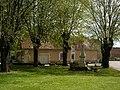 Place de l'église sainte colombe des bois nièvre France.jpg