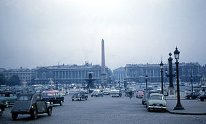 History of Paris (1946-2000) - Place de la Concorde (1960)