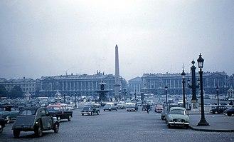 History of Paris (1946-2000) - Place de la Concorde (1960)
