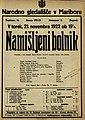 Plakat za predstavo Namišljeni bolnik v Narodnem gledališču v Mariboru 21. novembra 1922.jpg