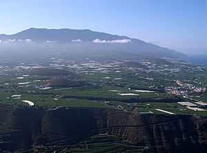 View to Cumbre Vieja, in the foreground the Aridane Valley