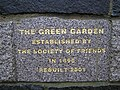 Plaque, The Green Garden - geograph.org.uk - 646769.jpg