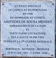 Plaque à la mémoire de Aristides de Sousa Mendes à Bayonne.jpg