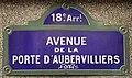 Plaque Avenue Porte Aubervilliers - Paris XVIII (FR75) - 2021-01-15 - 1.jpg