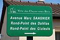 Plaque avenue Marc-Sangnier, Les Clayes-sous-Bois, Yvelines.jpg
