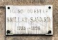 Plaque de la maison natale de Brillat-Savarin (hôtel Brillat-Savarin) à Belley.jpg