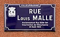 Plaque de la rue Louis Malle anciennement Rue Son-Tay où a débuté l'insurrection de Villeurbanne le 24 août 1944.jpg