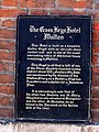 Plaque on the wall of the Cross Keys Hotel - geograph.org.uk - 842154.jpg