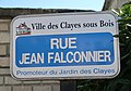 Plaque rue Jean-Falconnier, Les Clayes-sous-Bois, Yvelines.jpg
