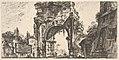 Plate 8- Arch of Drusus at the Porta S. Sebastiano in Rome (Arco di Druso alla Porta di Sebastiano in Roma) MET DP827916.jpg