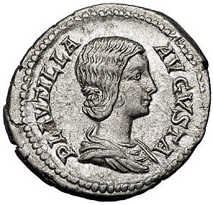 Fulvia Plautilla - Fulvia Plautilla on a denarius